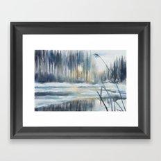 Yesterday's Snow Framed Art Print