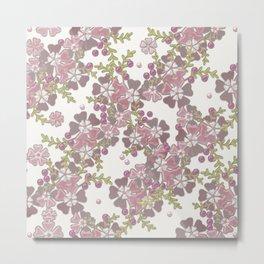 Pearl floral 3D texture . Metal Print