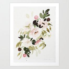 Romantic Loose Rose Bouquet Art Print