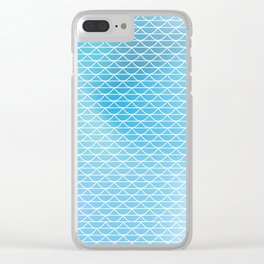 White lace on the watercolor background Clear iPhone Case