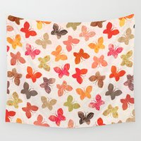 ursula Wall Tapestries featuring BUTTERFLY SEASON by Daisy Beatrice