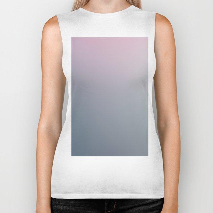 WATER WALL - Minimal Plain Soft Mood Color Blend Prints Biker Tank
