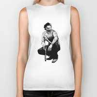 rick grimes Biker Tanks featuring Rick Grimes by Naomi Bell