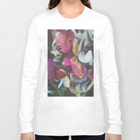 hydrangea Long Sleeve T-shirts featuring Fall Hydrangea by DuckyB
