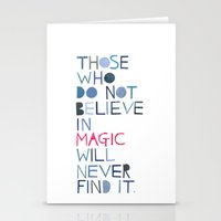 roald dahl Stationery Cards featuring Believe in magic... by Madi