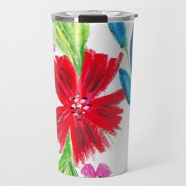 Vintage Floral Spray Travel Mug