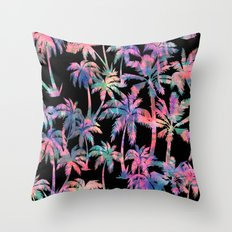 Maui Palm {Black} Throw Pillow