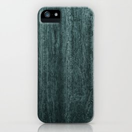 Black gray green abstract modern marble iPhone Case