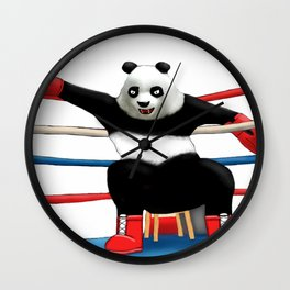 Boxing Panda Wall Clock
