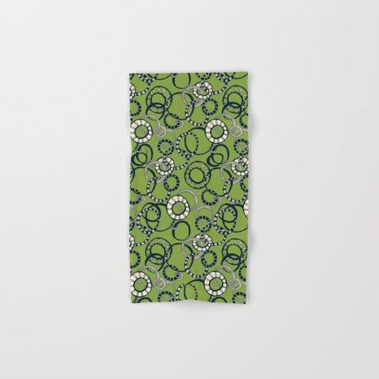 Honolulu hoopla green Hand & Bath Towel