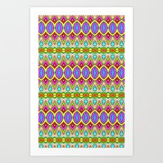 Happy Pattern 001 Art Print