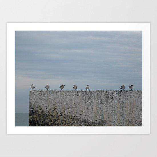 Never A Wall Flower Art Print