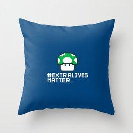 #Extra Lives Matter Throw Pillow