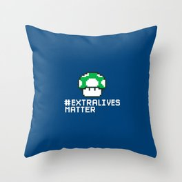 #Extra Lives Matter Throw Pillow