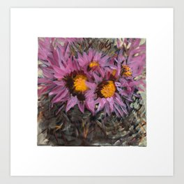 Cactus Blossoming Art Print