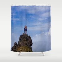 infinite Shower Curtains featuring Infinite by Miles Peterson