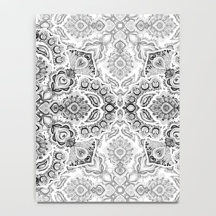 Pattern in Black & White Notebook