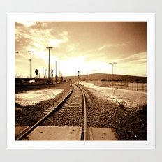 Tracks of my Heart Art Print