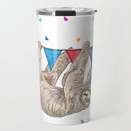 Sloth with Bunting #1 Travel Mug