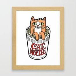 Cat Noodle Framed Art Print