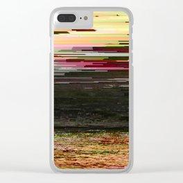 LOST SUMMER - Glitch Art Iphone Case Clear iPhone Case