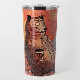 The relaxing bear Travel Mug
