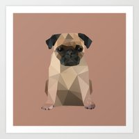 pug Art Prints featuring Pug by Diana D'Achille