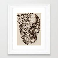 skeleton Framed Art Prints featuring Skeleton by ViviRajski