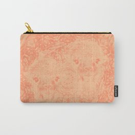 Ghostly alpacas with mandala in peach echo Carry-All Pouch