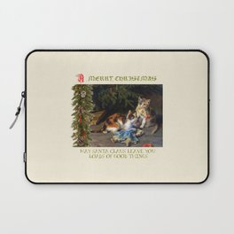 CHRISTMAS GREETINGS for Naughty Cats Laptop Sleeve