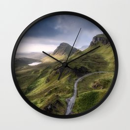 The Road to the Quiraing IV Wall Clock