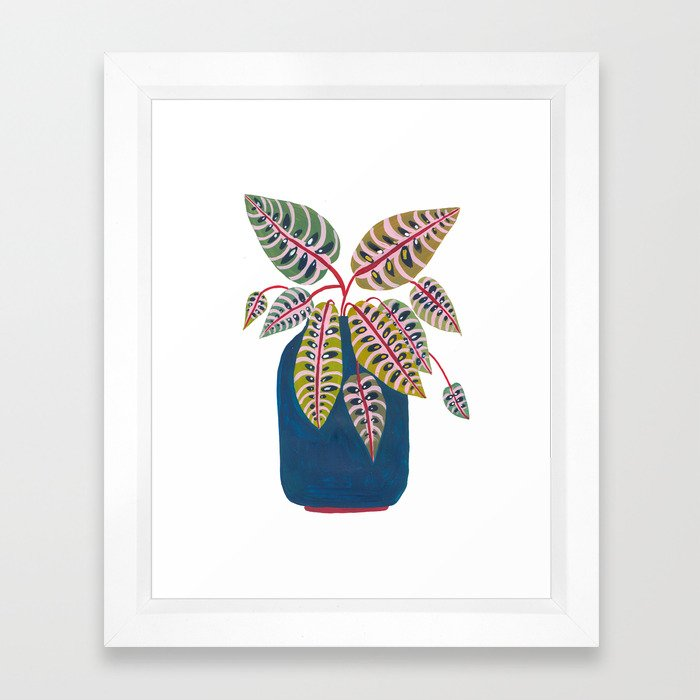 Potted Prayer Plant Framed Art Print