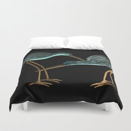 Sandpipers in Teal Blue Duvet Cover