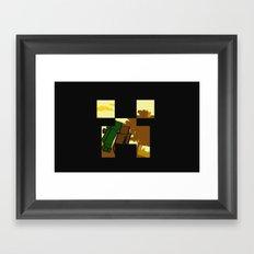 Friends forever (minecraft edition)  Framed Art Print