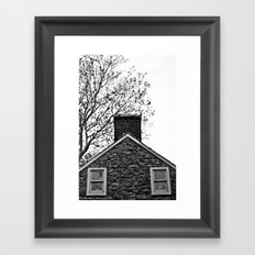 Farm House Tree Tops Framed Art Print