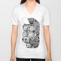 hipster V-neck T-shirts featuring hipster by Jess John
