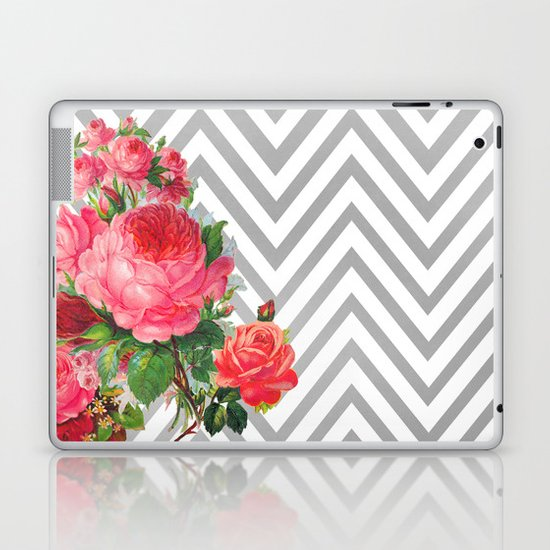 FLORAL CHEVRON Laptop & iPad Skin