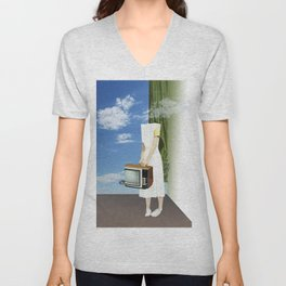 atmosphere · feeling headless Unisex V-Neck