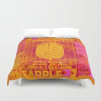 pineapple Duvet Covers featuring Pineapple by LebensART