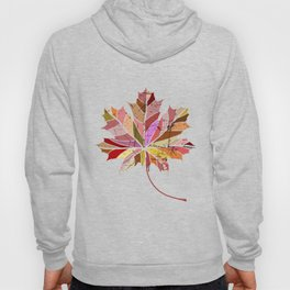 Colorful maple leaf Hoody