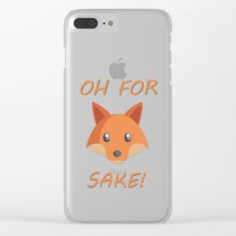 Oh for Fox Sake! Clear iPhone Case