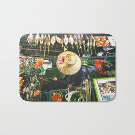 Bangkok Street Food Bath Mat
