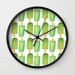 Cactus Popsicles Pattern #society6 #decor #buyart Wall Clock