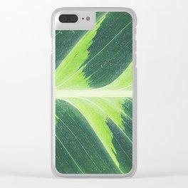 Leaf green Clear iPhone Case