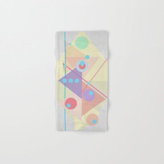 Geometric pastel 01 Hand & Bath Towel