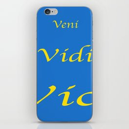 Veni Vidi Vici Blue and Gold iPhone Skin