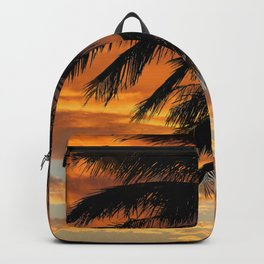 Tropical Palm Silhouette Backpack