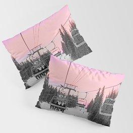 Ski Lift Sunset Shot on iPhone 4 Pillow Sham