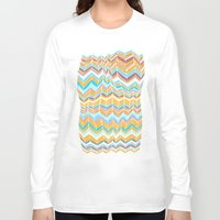 blanket Long Sleeve T-shirts featuring Grandma's blanket by Tonya Doughty