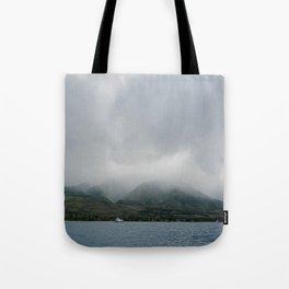 Foggy Maui View Tote Bag